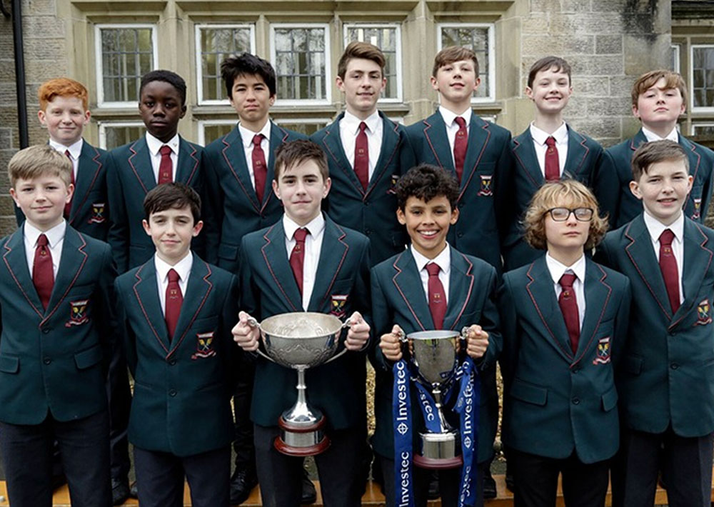 Students proud with trophy