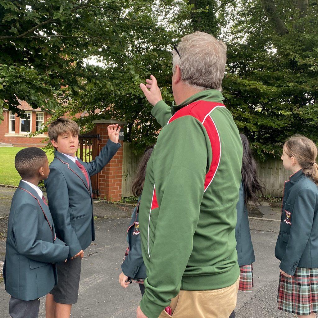 teacher demonstrating
