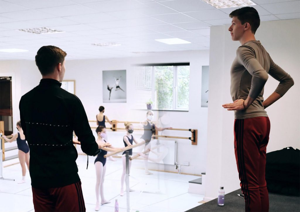boys practicing ballet
