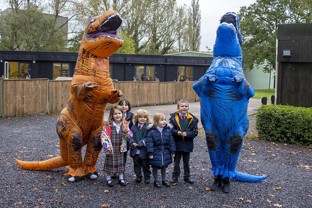 trex costumes and children