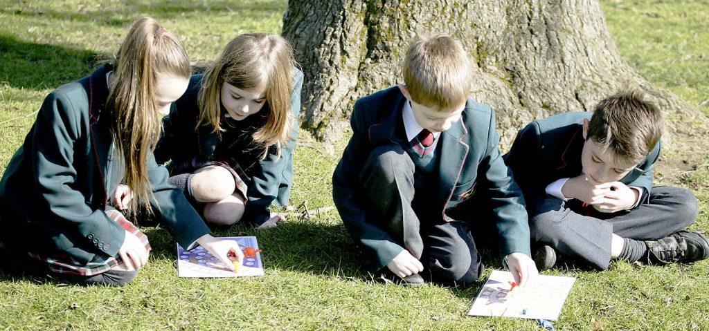 class learning outside