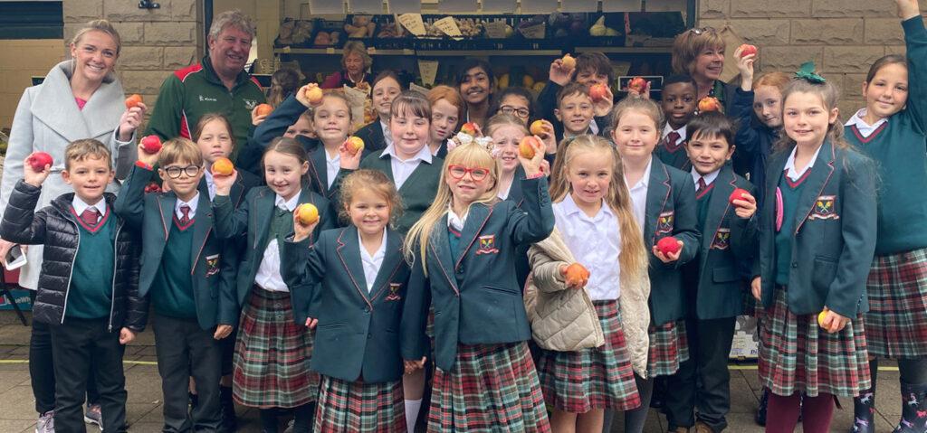 young school children
