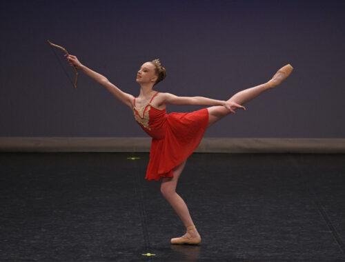 Girl in red ballet